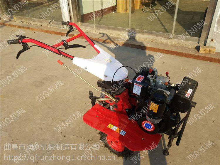 大马力耕地旋耕机 柴油手扶式小型旋耕机