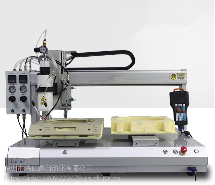 中山瑞德鑫AB胶混合点胶机6331电源适配器桌面灌胶机