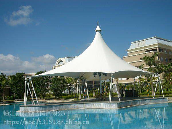 设计制作PVC水上公园膜结构景观篷索膜泳池顶棚钢膜结构游泳馆