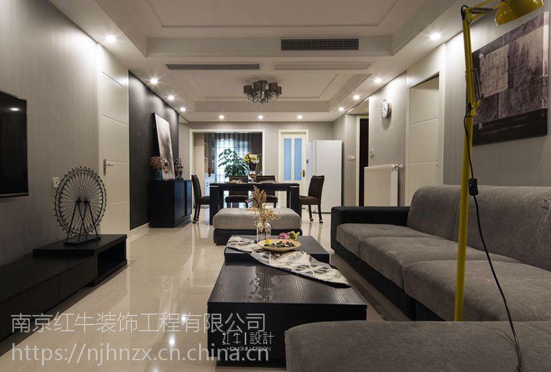 南京红牛装饰九玺台140㎡三室一厅现代简约风格