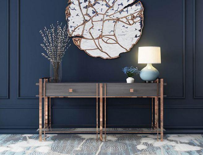 新中式梳妆柜大小户型卧室家具化妆桌台别墅定制家具