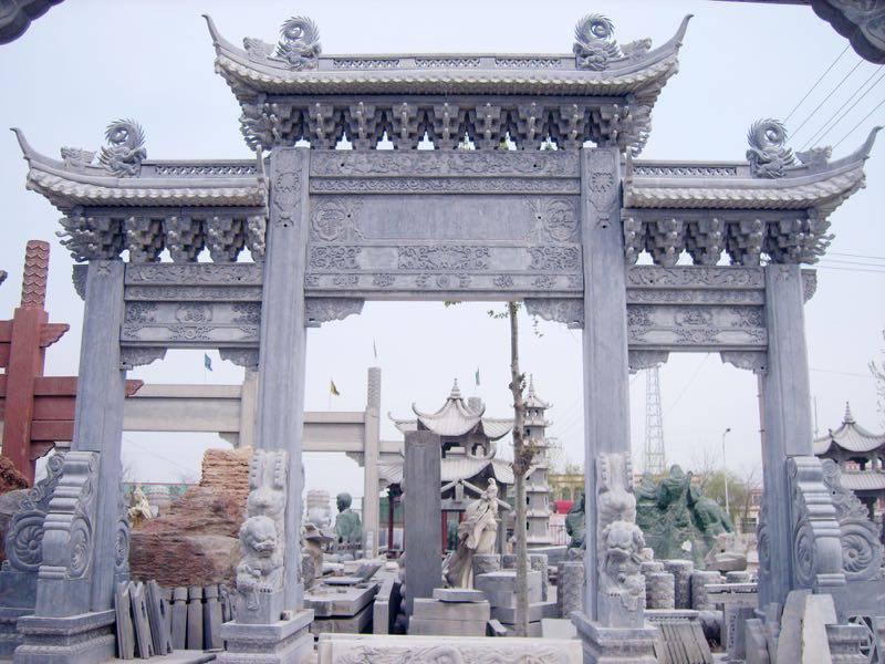 石头门楼订做 安徽石材牌坊来图加工招经销商〈金玉石材〉