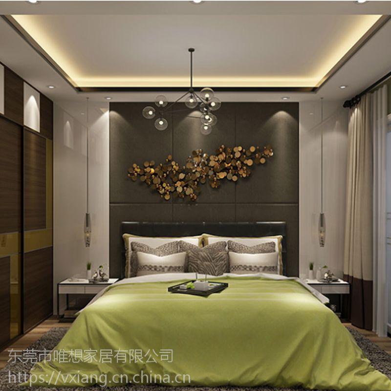 免费量尺定制家具 现代风格卧室家具 衣柜可做背景墙 梳妆台 床尾柜