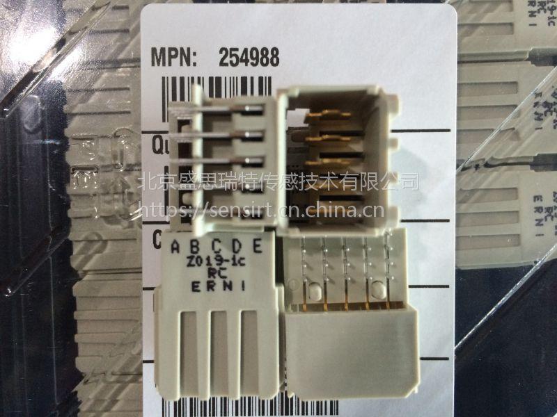 ERNI恩尼卷带12针表面贴垂母连接器234198