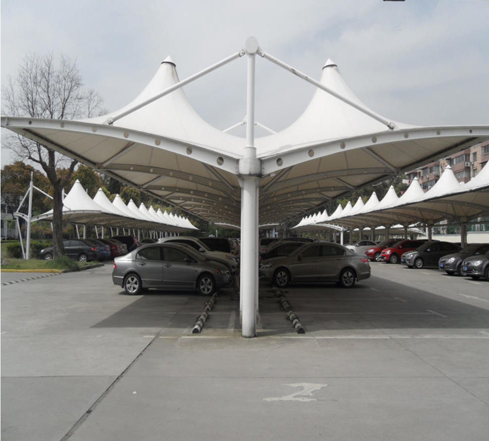 实体厂家供应优质碳素结构膜结构停车棚采用高档进口膜材料全国上门