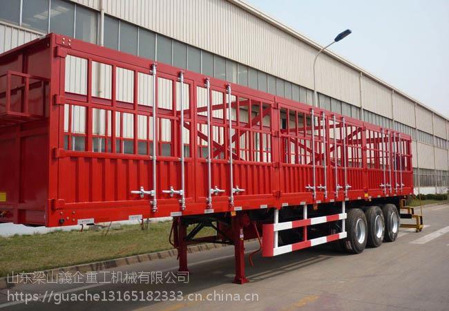 仓栅运输半挂车主要用于哪些行业 梁山挂车哪里价格偏宜