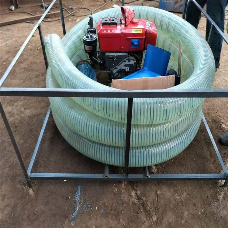 6米长橡胶管吸粮机 苞米两相电车载抽粮机 浩发