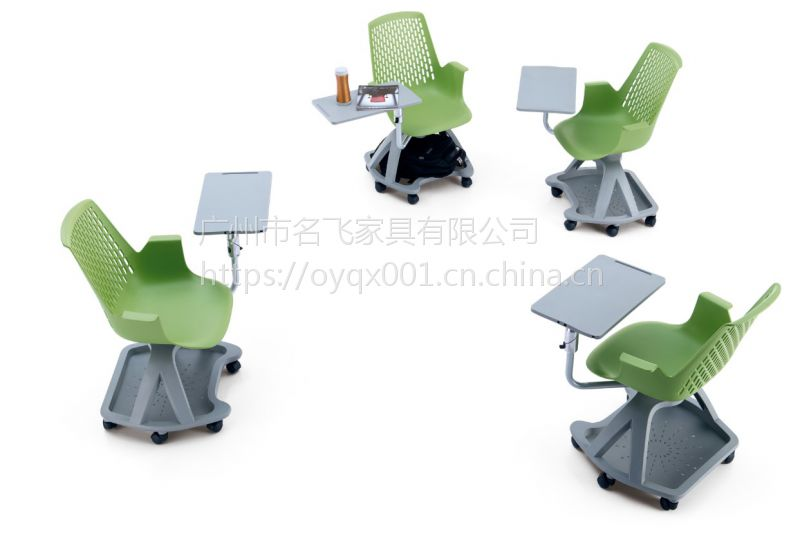 MDJ-DN02麦德嘉供应中式可旋转写字板椅多功能学校椅子学生培训椅