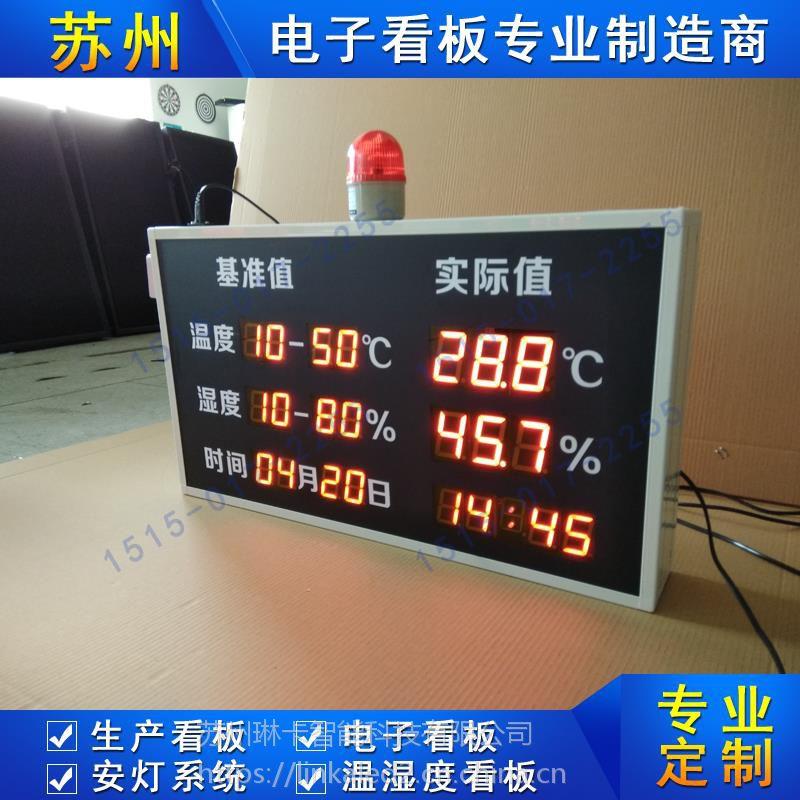 工业时间温湿度显示屏生产环境监控系统车间生产管理壁挂式电子看板