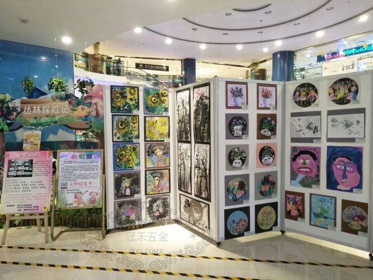 书画活动展板 美术移动展架 画廊作品展架 校园摄影展背景墙图片