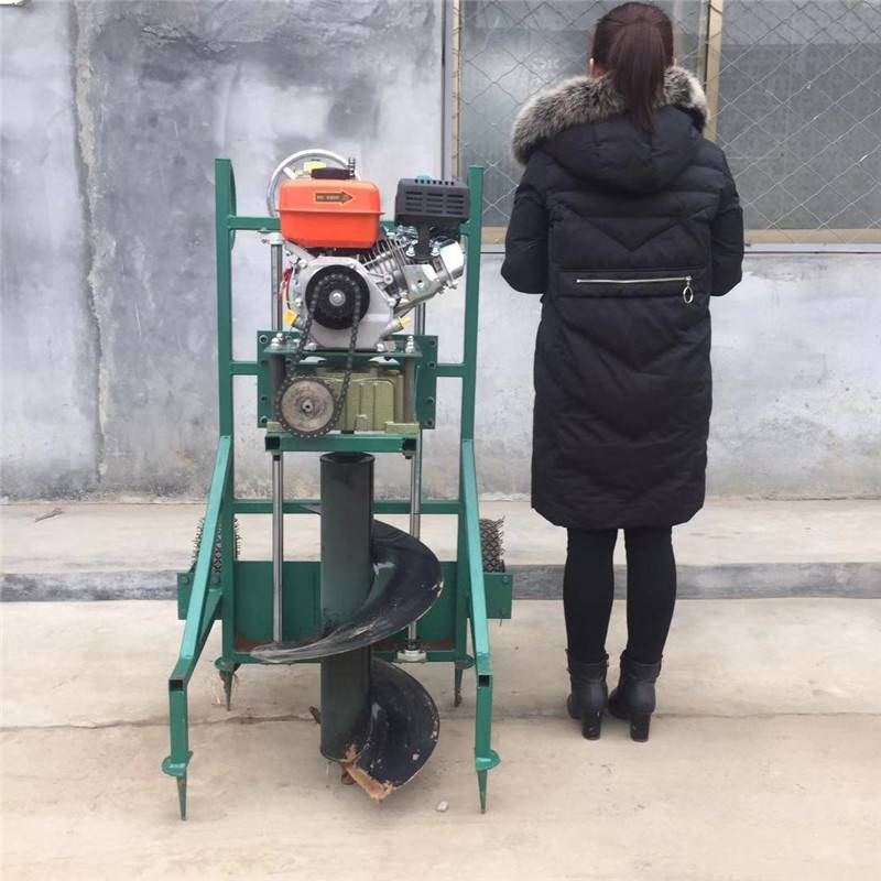 荒山造林挖坑机 启航陕西省小四轮带动挖坑机 江苏省便携式电线杆刨坑机