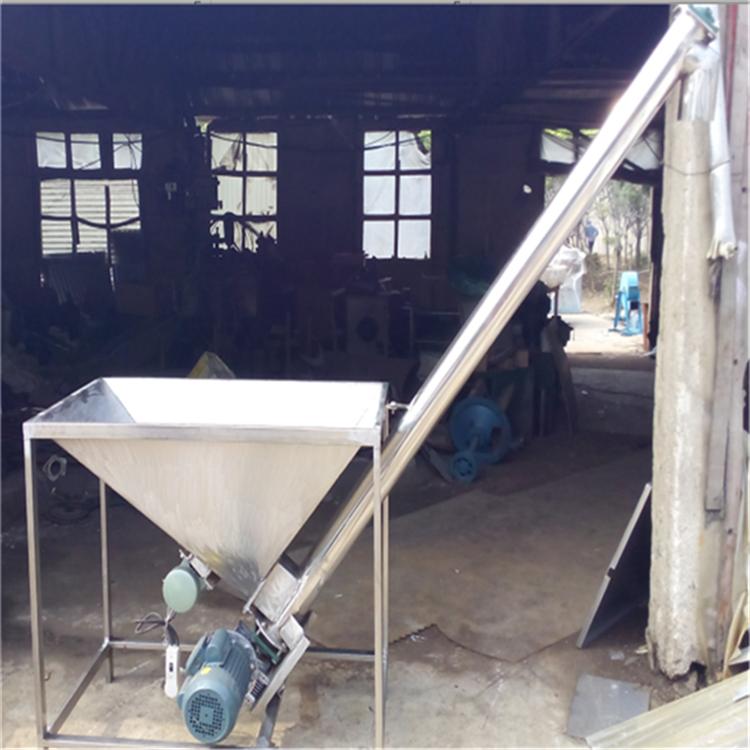 汇众不锈钢圆管式提升机 复合肥蛟龙上料机 尿素装罐给料机