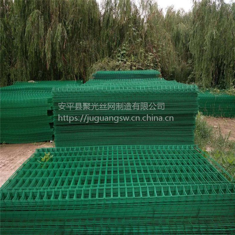 双边丝护栏@圈地护栏网@聚光厂家供应双边丝圈地围栏网