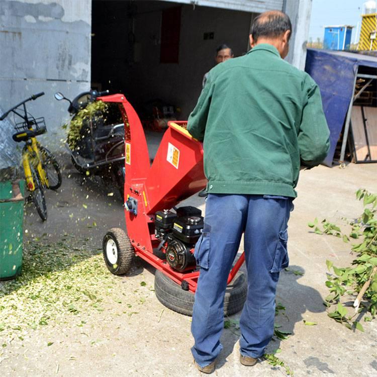 果园树枝树叶粉碎机 道路绿化碎枝机 木材边角料粉碎机
