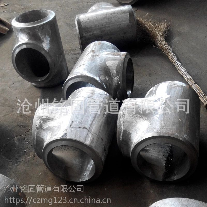 A420WPL6合金钢 SCH80 TEE 美标热压厚壁三通 219*16