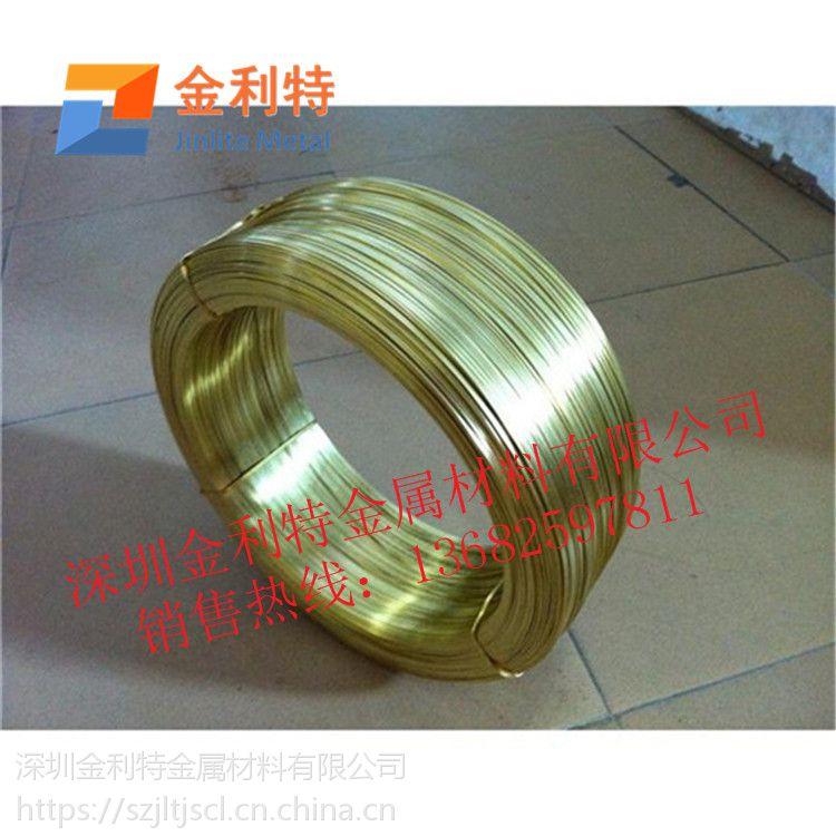 优质插座专用H70黄铜扁线高精光亮面黄铜线规格齐全
