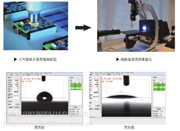 刚性电路板,柔性线路板的接触角大小,测量塑料材料的水滴角测试仪,广东