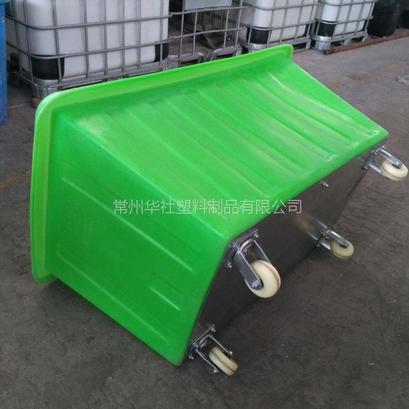 广东300L方形塑料周转箱 耐用耐压带轮方箱