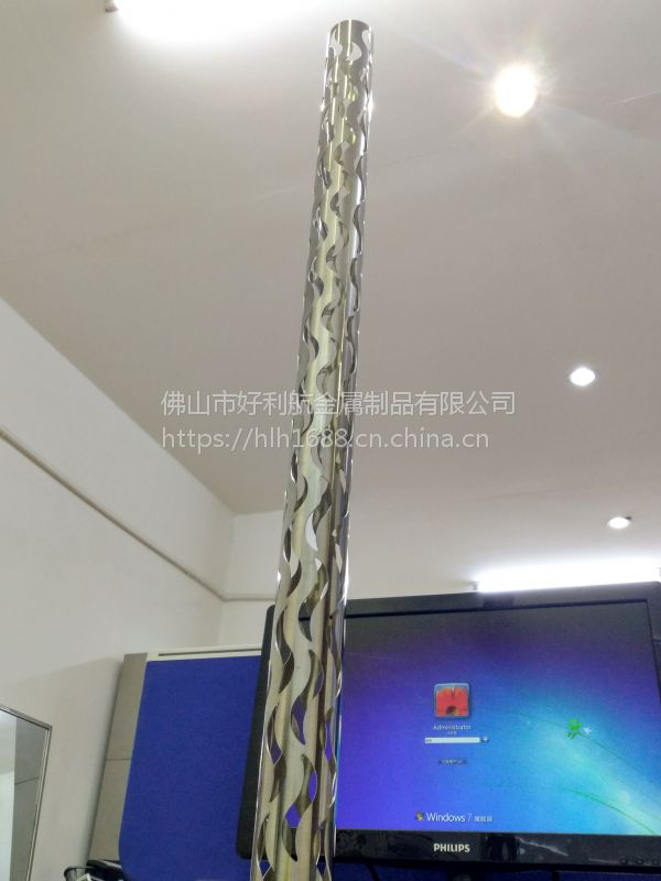 三维激光切管 不锈钢圆管切圆弧 方管 矩形管切孔 佛山-加工厂
