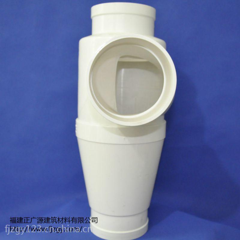 厂家直销PVC消音管件 PVC单立管旋流立体四通排水管件