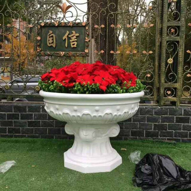 宜昌市专业定制成品防腐木花箱座椅组合 户外木质花盆花钵 园林景观花池