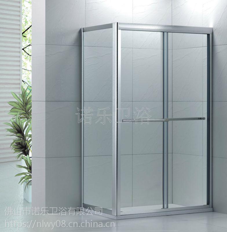 佛山诺乐淋浴房厂家供应简易淋浴房R-021非标定做淋浴房门配件