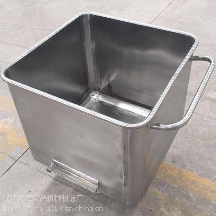 天嘉不锈钢料斗车 标准肉料车 精品小料车