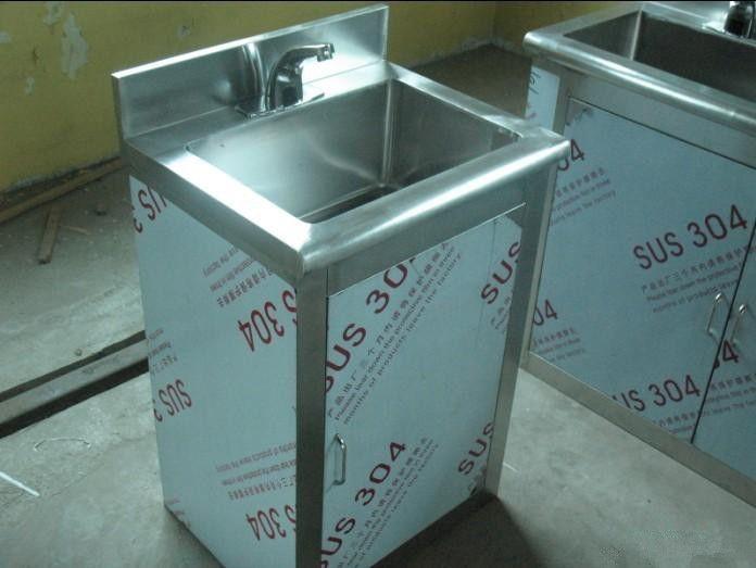 食品厂不锈钢脚踏洗手池