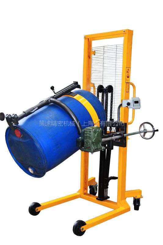 液压油桶翻转车 供应DA450-1称重油桶车 油桶车厂家直销