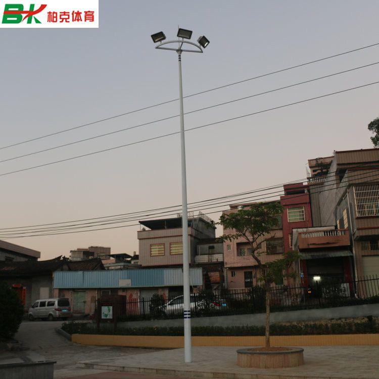 海南户外篮球场灯杆批发/羽毛球场灯柱安装 6米球场灯杆现货