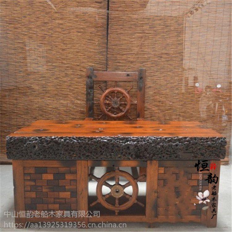 船木家具 老船木办公台 船木茶台 大板台 电脑台 船木会议桌