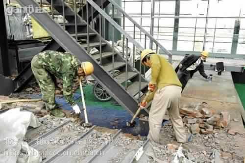 北京专业拆除公司13801274570专业楼梯楼板拆除