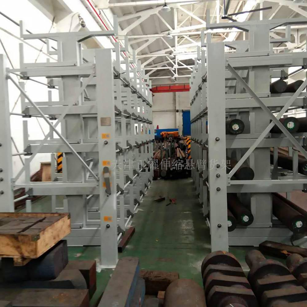 悬臂货架使用范围 伸缩悬臂式货架图片 杭州钢管存放