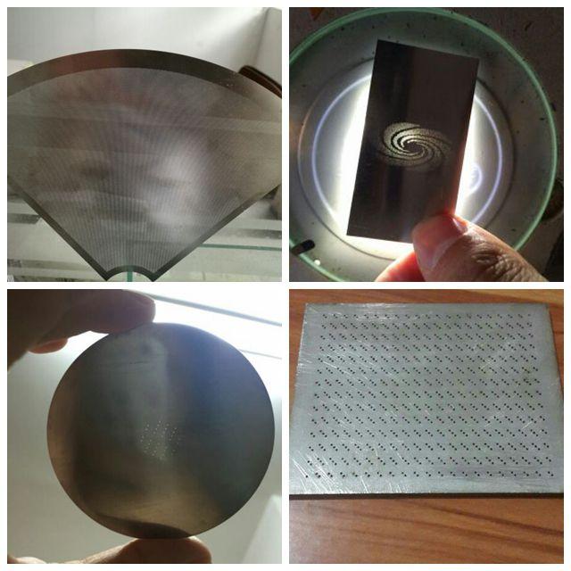 深圳铝制品激光穿孔设备 金属片微小孔钻孔机 管材透光孔切割打孔机——银涛激光