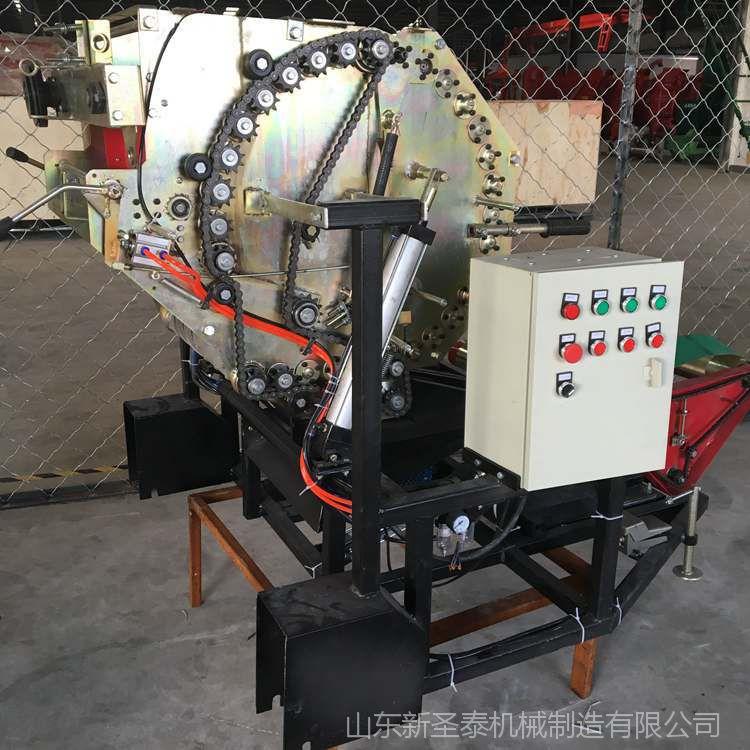 供应青草固定式打捆包膜机 固定式饲料打捆 固定方捆打捆机