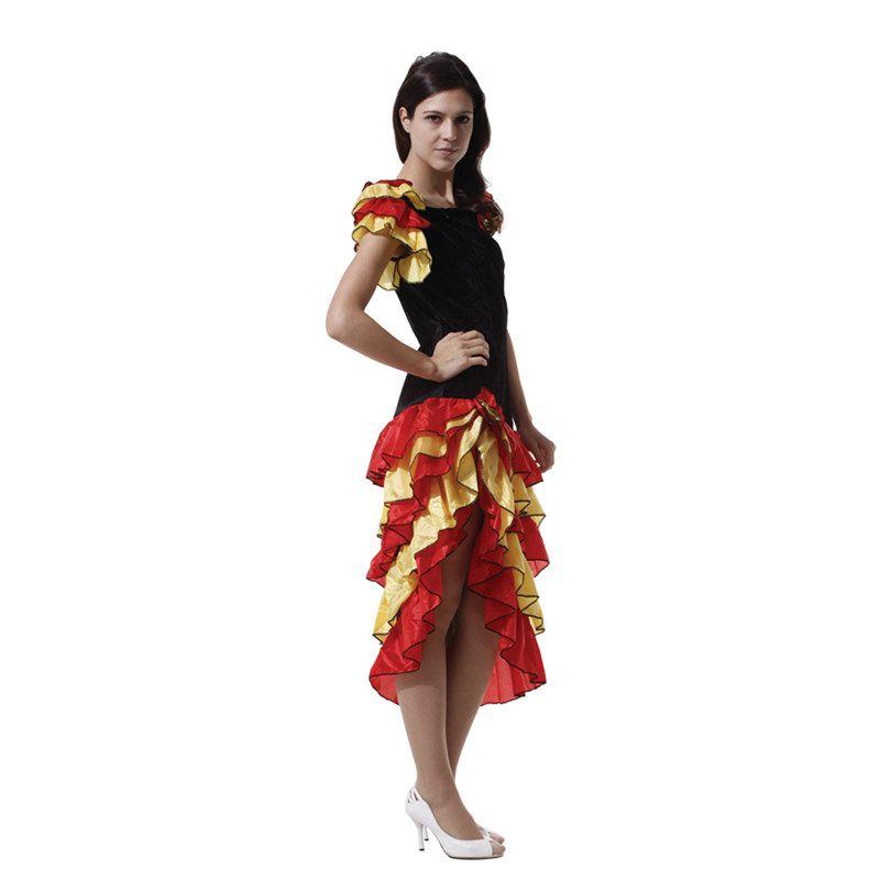 cos万圣节西班牙民族服装成人服装男生古风舞蹈的伦巴舞女跳女生图片