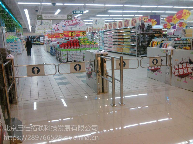 超市单向出口器 超市进入口感应器 超市自动感应门