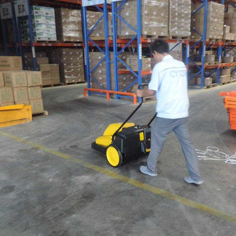 驰洁CJS70-1手推式电瓶式扫地机 树叶灰尘石子垃圾清扫车 工厂马路厂区用