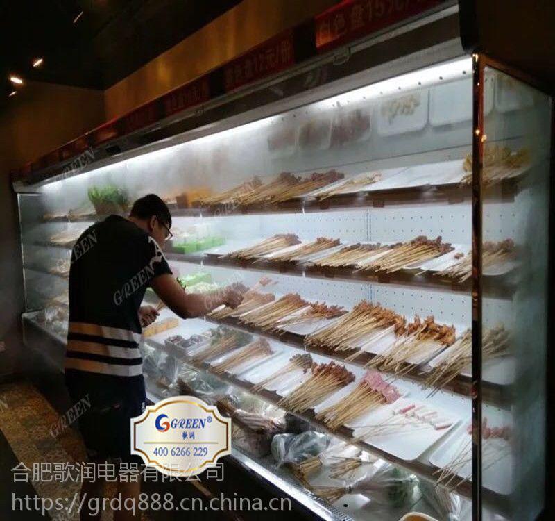 带喷雾的风幕柜,火锅串串菜品喷雾保鲜柜日常维护