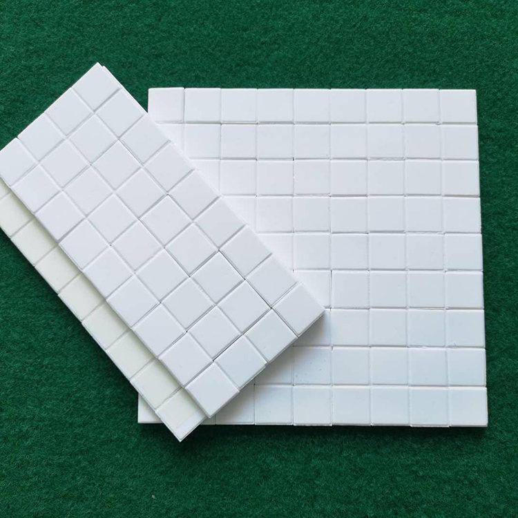 淄博厂家供应 规格17.5*17.5*4 防磨防腐 氧化铝耐磨陶瓷贴片