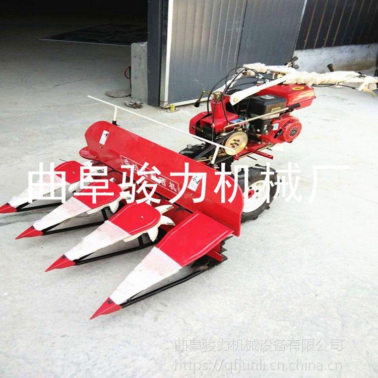 专业生产 自走式小型割晒机 多功能稻草割晒机 四轮前置式割倒机 骏力机械