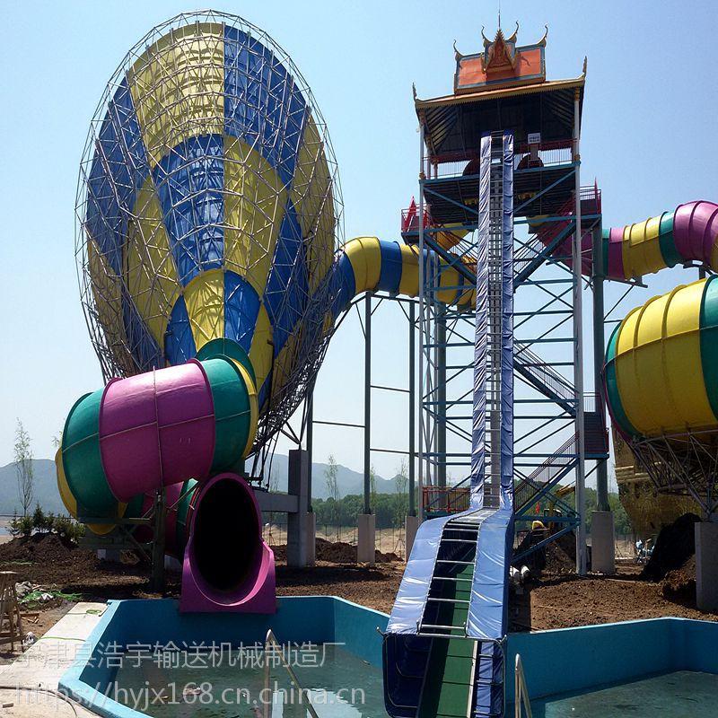 水上乐园滑梯设备、新颖滑梯提升机、游乐园设备齐全