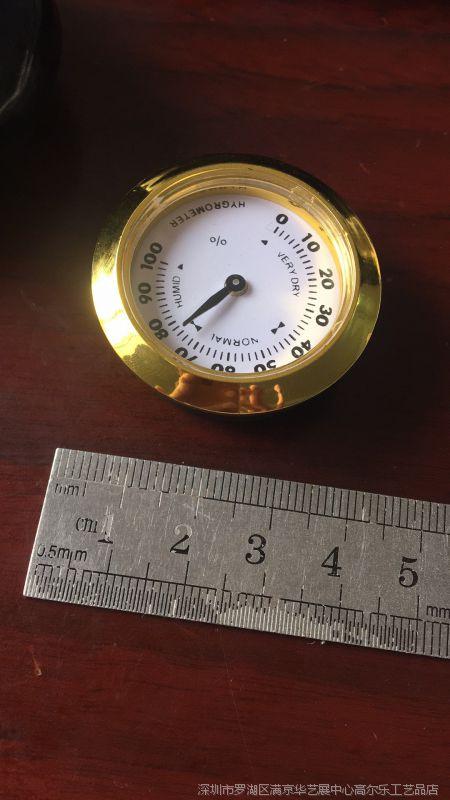 37mm指针式双金属雪茄湿度计表