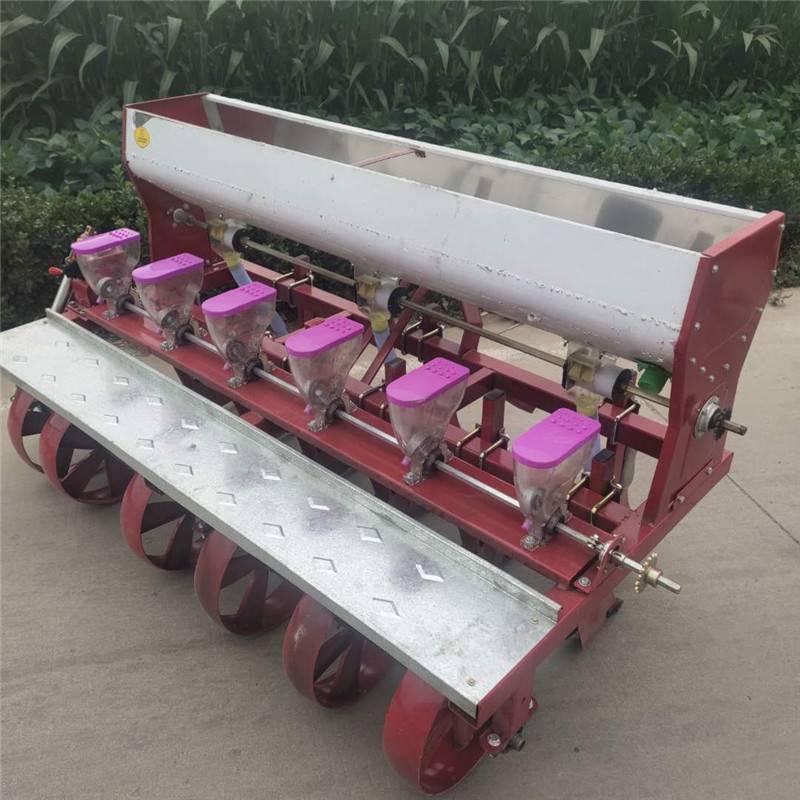 白菜种子播种机 启航六行藜麦精播机 拖拉机带谷子播种机厂家