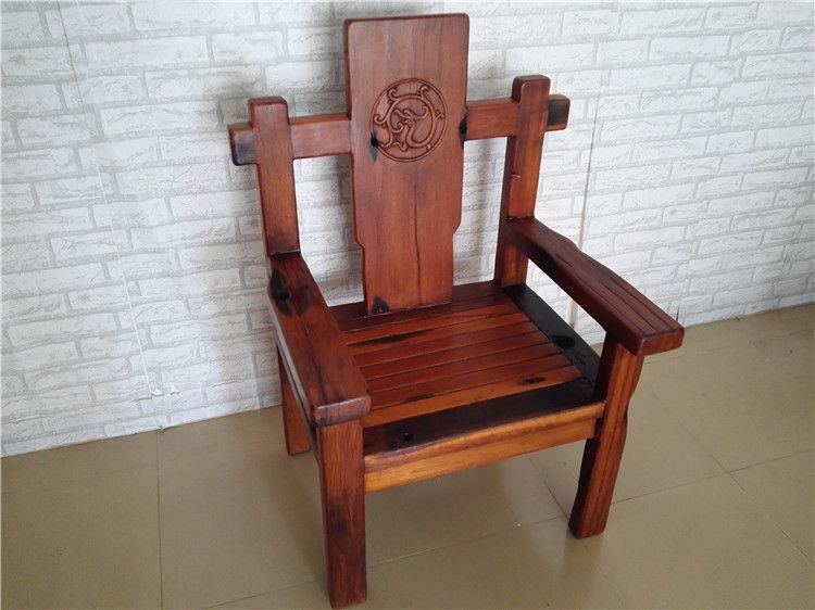 船木家具茶桌主人椅,古船木草龙主人椅,实木扶手靠背椅子,职员椅