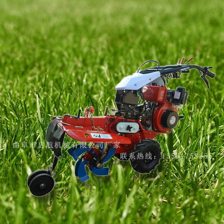 大葱种植培土机 启航柴油自走式开沟机 手推大马力松土机哪里有卖