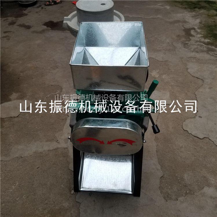 全自动多功能破碎机 熟花生米加工机械 振德牌 对辊扎胚机 型号