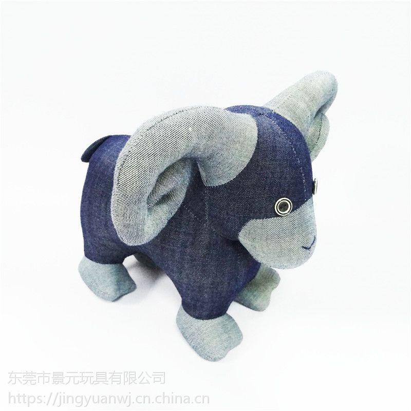 可爱动物毛绒玩具吉祥物可来图打样设计 加LOGO定制填充动物玩偶