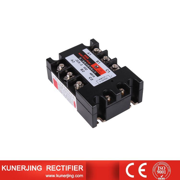 昆二晶三相固态继电器JGX3-40AA 480VAC 交流-交流