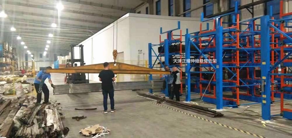 管材存放有什么好办法 国内专利产品 伸缩悬臂式货架图纸 武汉厂家直销